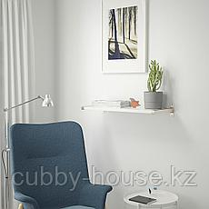 БЕРГСХУЛЬТ / ГРАНГУЛЬТ Полка навесная, белый, никелированный, 80x30 см, фото 2