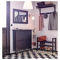 ХЕМНЭС Полка для головных уборов, черно-коричневый, 85 см, фото 3