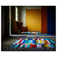 ХАЛЬВЕД Ковер безворсовый, ручная работа разноцветный, 170x240 см, фото 3