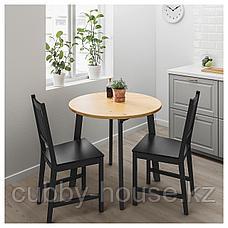 ГАМЛАРЕД Стол, светлая морилка антик, черная морилка, 85 см, фото 2
