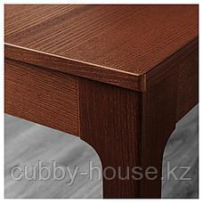 ЭКЕДАЛЕН / ОДГЕР Стол и 4 стула, коричневый, белый бежевый, 120/180 см, фото 3