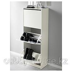 БИССА Галошница,3 отделения, белый, 49x135 см, фото 2