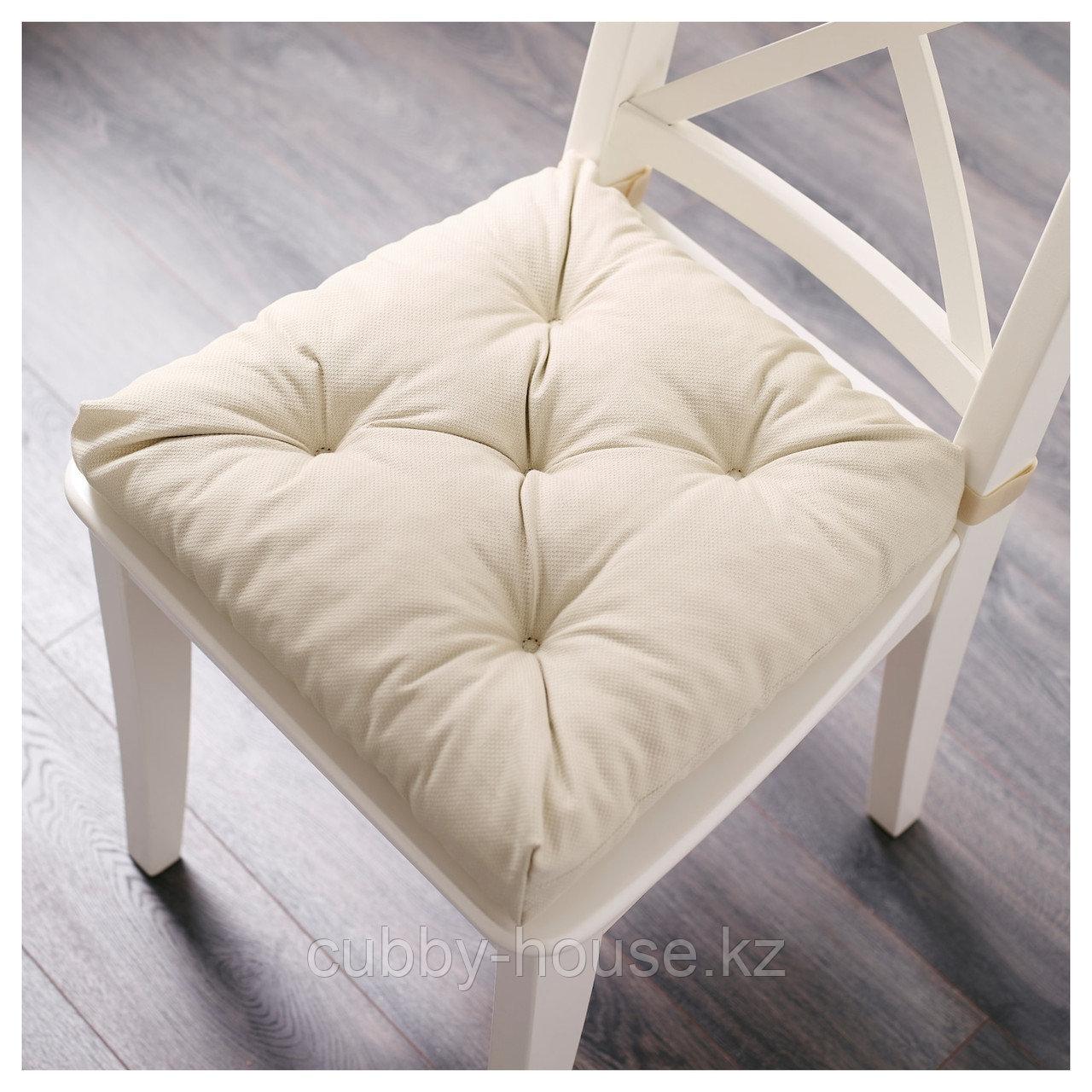 МАЛИНДА Подушка на стул, светло-бежевый, 40/35x38x7 см - фото 2