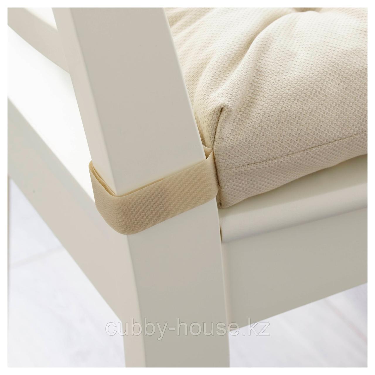 МАЛИНДА Подушка на стул, светло-бежевый, 40/35x38x7 см - фото 3
