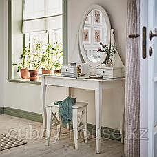 ХЕМНЭС Туалетный столик с зркл, белый, 100x50 см, фото 3