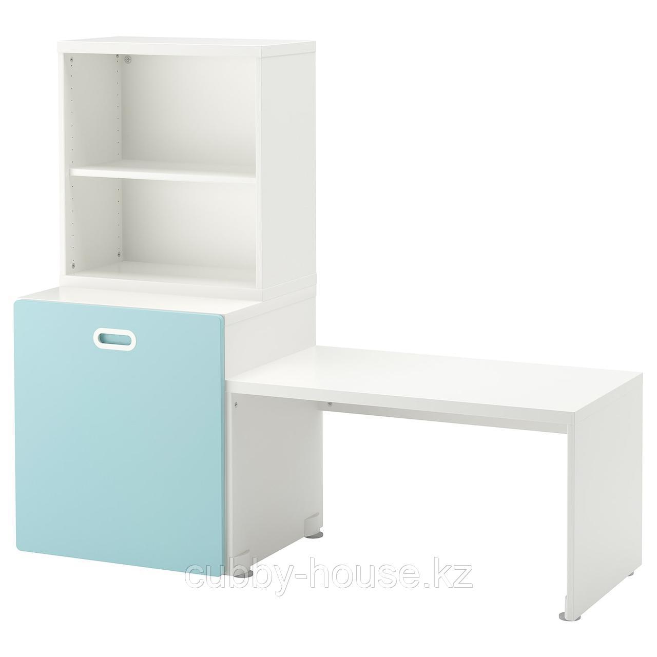 СТУВА / ФРИТИДС Стол с отделением для игрушек, белый, белый, 150x50x128 см