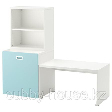 СТУВА / ФРИТИДС Стол с отделением для игрушек, белый, белый, 150x50x128 см, фото 2