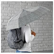 КНЭЛЛА Зонт, складной черный/белый, фото 2