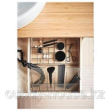 ГОДМОРГОН Ящик с отделениями, дымчатый, 32x28x10 см, фото 3