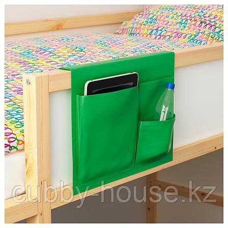 СТИККАТ Карман д/кровати, зеленый, 39x30 см, фото 2