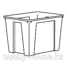 САМЛА Контейнер, прозрачный, 56x39x42 см/65 л, фото 2