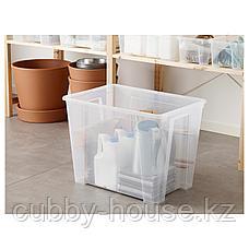 САМЛА Контейнер, прозрачный, 56x39x42 см/65 л, фото 3