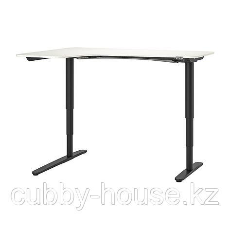 БЕКАНТ Углов письм стол лев/трансф, белый, 160x110 см, фото 2