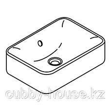 ХОРВИК Накладная раковина, белый, 45x32 см, фото 2