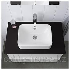 ХОРВИК Накладная раковина, белый, 45x32 см, фото 3