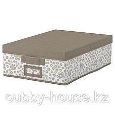СТОРСТАББЕ Коробка с крышкой, бежевый, 35x50x15 см, фото 2