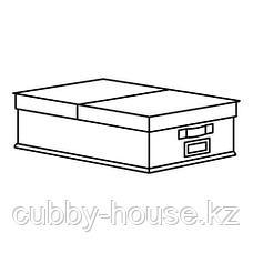 СТОРСТАББЕ Коробка с крышкой, бежевый, 35x50x15 см, фото 3