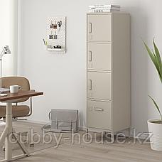 ИДОСЕН Высокий шкаф с ящиком и дверцами, синий, 45x172 см, фото 2