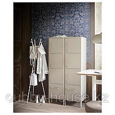 ИДОСЕН Высокий шкаф с ящиком и дверцами, синий, 45x172 см, фото 3