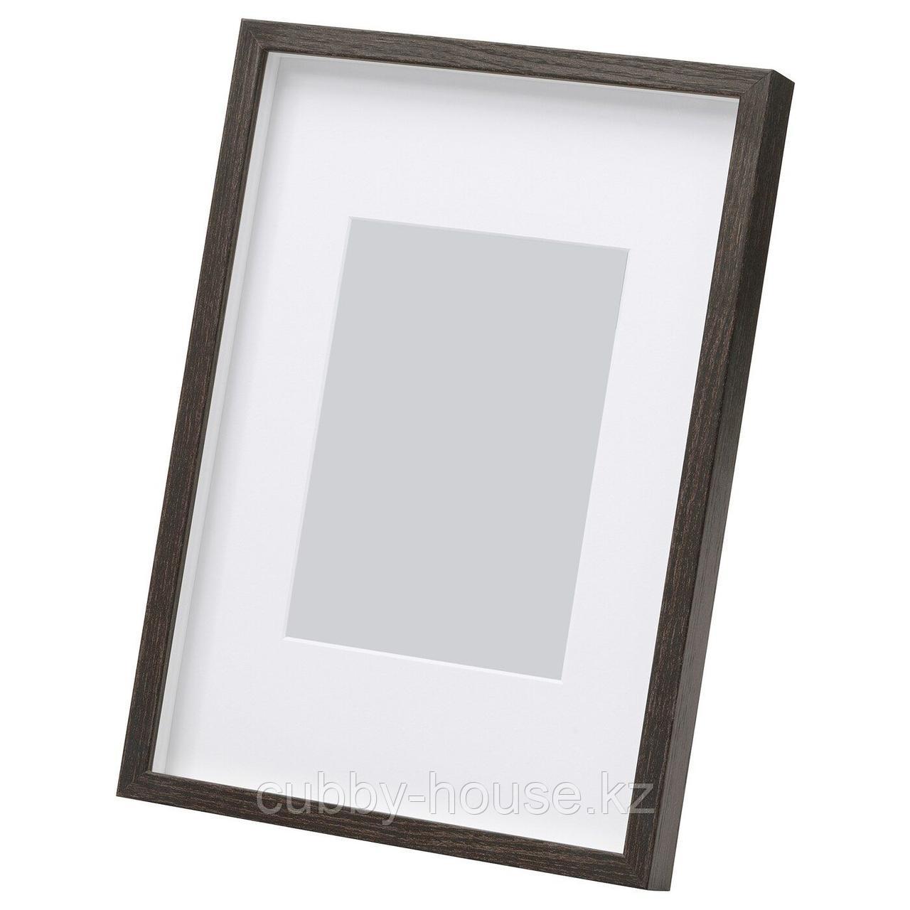 ХОВСТА Рама, темно-коричневый, 13x18 см