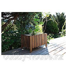 АСКХОЛЬМЕН Ящик для цветов, светло-коричневый светло-коричневая морилка серо-коричневая морилка, фото 2
