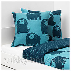 ДЬЮНГЕЛЬСКОГ Подушка, обезьянка, синий, 50x50 см, фото 2