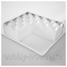 МОСХУЛЬТ Пенополиуретановый матрас, жесткий, белый, 140x200 см, фото 3
