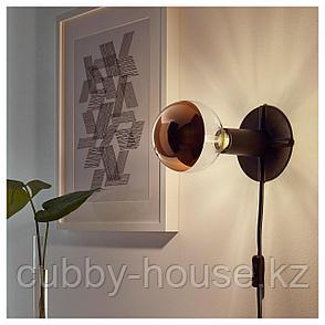 СИЛЛЬБУ Светодиод E27 140 лм, шаровидный, зеркальный верх «розовое золото», 125 мм, фото 2