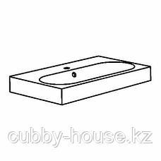 БРОВИКЕН Одинарная раковина, белый, 80x48x10 см, фото 3