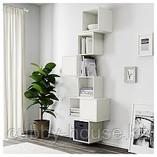 ЭКЕТ Комбинация настенных шкафов, белый, 80x35x210 см, фото 3