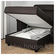 ЛИДГУЛЬТ 3-местный диван, с козеткой, Гранн/Бумстад золотисто-коричневый, фото 2