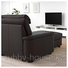 ЛИДГУЛЬТ 3-местный диван, с козеткой, Гранн/Бумстад золотисто-коричневый, фото 3