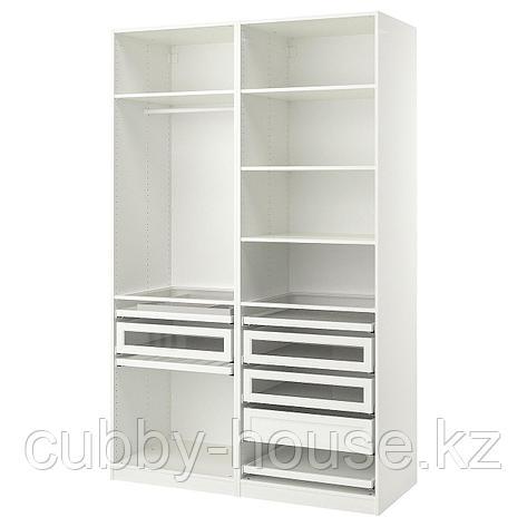 ПАКС Гардероб, комбинация, белый, 150x58x201 см, фото 2