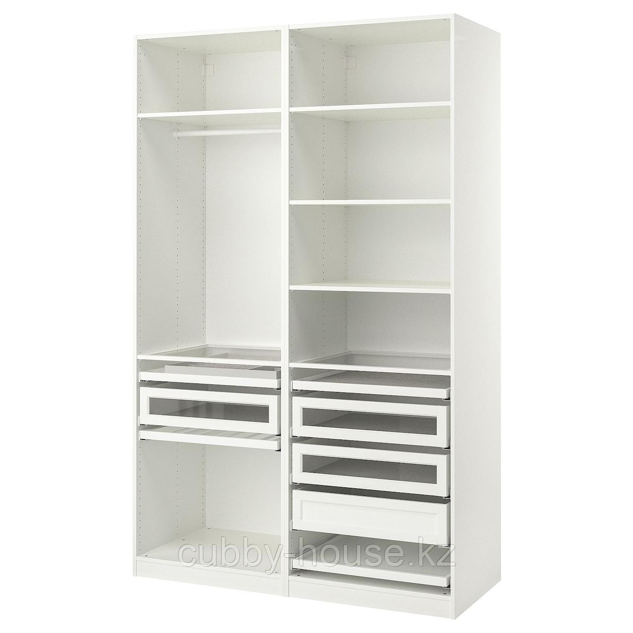 ПАКС Гардероб, комбинация, белый, 150x58x236 см
