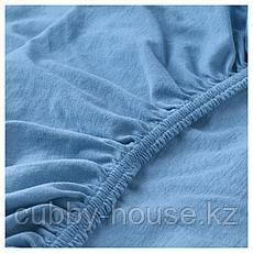 ЛЕН Простыня натяжн для кроватки, голубой, 60x120 см, фото 2
