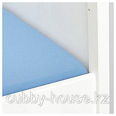 ЛЕН Простыня натяжн для кроватки, голубой, 60x120 см, фото 3