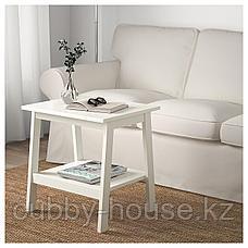 ЛУНАРП Придиванный столик, белый, 55x45 см, фото 2
