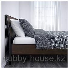 ТРИСИЛ Каркас кровати, темно-коричневый, Лурой, 140x200 см, фото 3