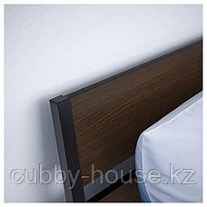 ТРИСИЛ Каркас кровати, темно-коричневый, Лурой, 140x200 см, фото 2