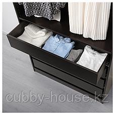 КОМПЛИМЕНТ Ящик, черно-коричневый, 100x35 см, фото 2