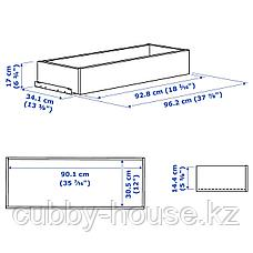 КОМПЛИМЕНТ Ящик, черно-коричневый, 100x35 см, фото 3
