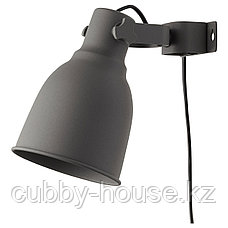 ХЕКТАР Настенный софит/лампа с зажимом, темно-серый, фото 2