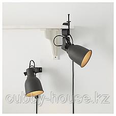 ХЕКТАР Настенный софит/лампа с зажимом, темно-серый, фото 3