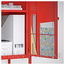 ЛИКСГУЛЬТ Комбинация шкафов, серый, красный, 95x35x92 см, фото 3