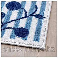 ГУЛСПАРВ Ковер, в полоску синий, белый, 133x160 см, фото 2