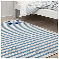 ГУЛСПАРВ Ковер, в полоску синий, белый, 133x160 см, фото 3