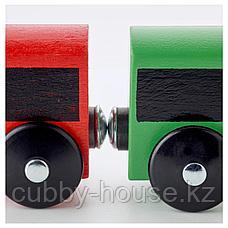 ЛИЛЛАБУ Железная дорога, набор, 20 предм, разноцветный, фото 3