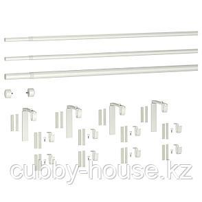 ХУГАД / РЭККА Тройной гардинный карниз,комбинация, белый, 120-210 см, фото 2