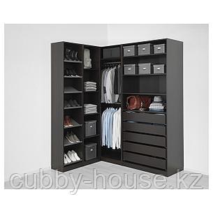 ПАКС Гардероб угловой, черно-коричневый, 160/188x236 см, фото 2