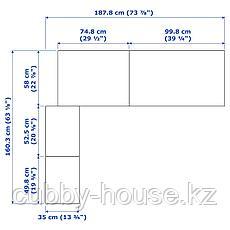 ПАКС Гардероб угловой, черно-коричневый, 160/188x236 см, фото 3